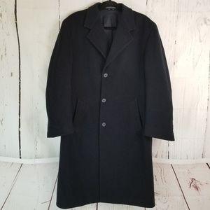 Bill Blass Black Label Trench Coat Sz 40 R Black